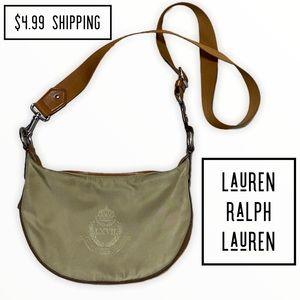 Lauren Ralph Lauren khaki/tan expandable crossbody